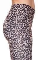 Brązowe panterkowe legginsy                                  zdj.                                  5