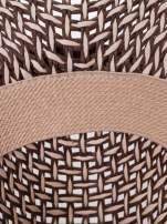 Brązowy kapelusz słomiany z dużym rondem i ciemną wstążką                                  zdj.                                  8