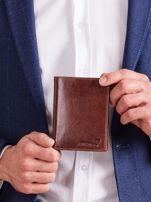 Brązowy portfel skórzany męski pionowy                                  zdj.                                  1