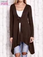 Czarny wiązany asymetryczny sweter