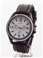 CARSIDUN Duży męski zegarek z ozdobnym chronometrem i tachometrem