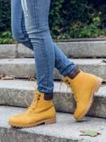 Camelowe buty trekkingowe damskie typu traperki                                  zdj.                                  5