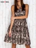 Ciemna moro sukienka na gumkę FUNK N SOUL