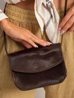 Ciemnobrązowa torebka damska ze skóry naturalnej                                  zdj.                                  1