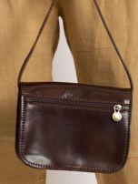 Ciemnobrązowa torebka damska ze skóry naturalnej                                  zdj.                                  3