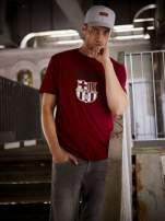 Ciemnoczerwony t-shirt męski FC BARCELONA                                   zdj.                                  1