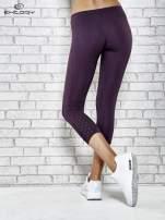 Grafitowe legginsy sportowe z dżetami na dole nogawki                                                                          zdj.                                                                         7