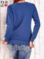 Ciemnoniebieska bluza z motywem sowy i łapacza snów