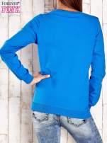 Ciemnoniebieska bluza z napisem NO LIMITS                                                                          zdj.                                                                         4