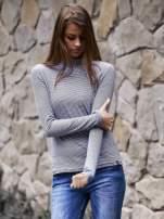 Ciemnoniebieska bluzka w paski