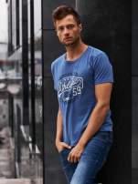 Ciemnoniebieski t-shirt męski z napisem BROOKLYN ATHLETIC UNIVERSITY                                                                          zdj.                                                                         1