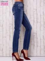 Ciemnoniebieskie spodnie regular jeans