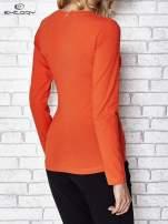 Ciemnopomarańczowa bluzka sportowa z dekoltem U                                                                          zdj.                                                                         4