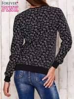 Ciemnoszara bluza z nadrukiem kotów                                                                          zdj.                                                                         4