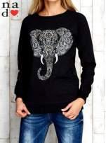 Ciemnoszara bluza z nadrukiem słonia                                  zdj.                                  1