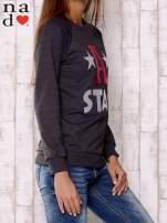 Ciemnoszara bluza z napisem A STAR