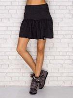 Ciemnoszara dresowa spódnica z falbaną                                  zdj.                                  1