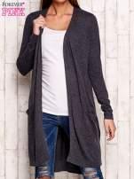 Ciemnoszary długi sweter oversize                                  zdj.                                  1