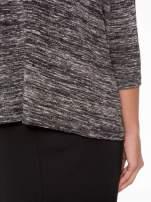 Ciemnoszary melanżowy sweter z rękawami 3/4                                  zdj.                                  9