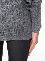 Ciemnoszary sweter z nietoperzowymi rękawami                                  zdj.                                  8