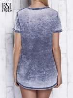 Ciemnoszary t-shirt acid wash z motywem Batmana                                  zdj.                                  5