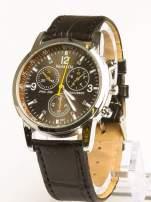 Cudny czarny zegarek damski z ozdobnym tachometrem