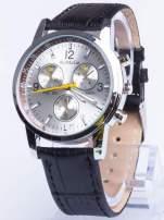 Cudny srebrny zegarek damski z ozdobnym tachometrem