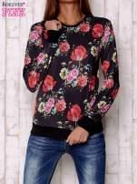 Czarna bluza motywy roślinne                                  zdj.                                  1