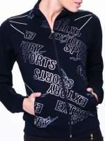 Czarna bluza sportowa z logo EXTORY