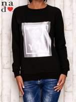 Czarna bluza z błyszczącym nadrukiem