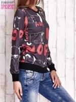 Czarna bluza z kocim motywem                                   zdj.                                  3