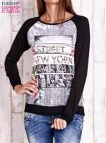Czarna bluza z miejskim nadrukiem