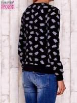 Czarna bluza z motywem sów                                  zdj.                                  2
