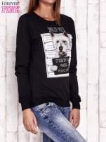 Czarna bluza z nadrukiem psa                                  zdj.                                  3