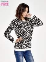 Czarna bluza z nadrukiem zebra print                                  zdj.                                  1