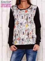 Czarna bluza z rysunkowym nadrukiem