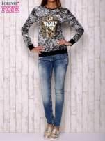 Czarna bluza ze złotym motywem                                  zdj.                                  2