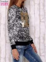 Czarna bluza ze złotym nadrukiem 90                                                                          zdj.                                                                         3
