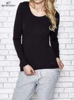 Czarna bluzka sportowa z dekoltem U