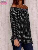 Czarna bluzka w groszki                                  zdj.                                  4