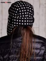 Czarna czapka uszatka w grochy FUNK N SOUL                                  zdj.                                  4