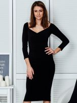 Czarna dopasowana sukienka                                   zdj.                                  1