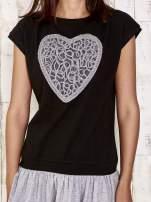 Czarna dresowa sukienka tenisowa z sercem                                                                          zdj.                                                                         5