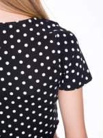 Czarna dwuczęściowa sukienka z odpinanym topem w groszki                                                                          zdj.                                                                         11