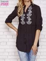 Czarna koszula hippie z haftem                                  zdj.                                  1