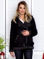 Czarna kurtka z kożuszkiem                                   zdj.                                  1