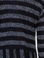 Czarna melanżowa sukienka z motywem pasków                                                                          zdj.                                                                         6