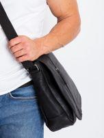 Czarna męska torba na ramię z ekoskóry                                  zdj.                                  5