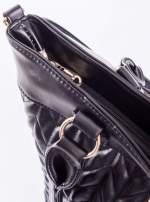 Czarna pikowana torba na ramię                                  zdj.                                  9