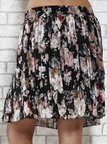 Czarna plisowana spódnica w kwiaty                                                                          zdj.                                                                         7